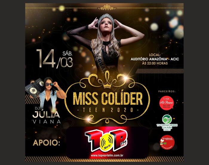 Neste sábado acontece mais uma edição do Miss Teen Colíder.
