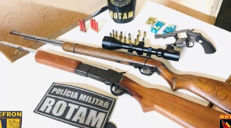 PM tira armas de fogo e réplicas de circulação na área metropolitana e cidades do interior de MT