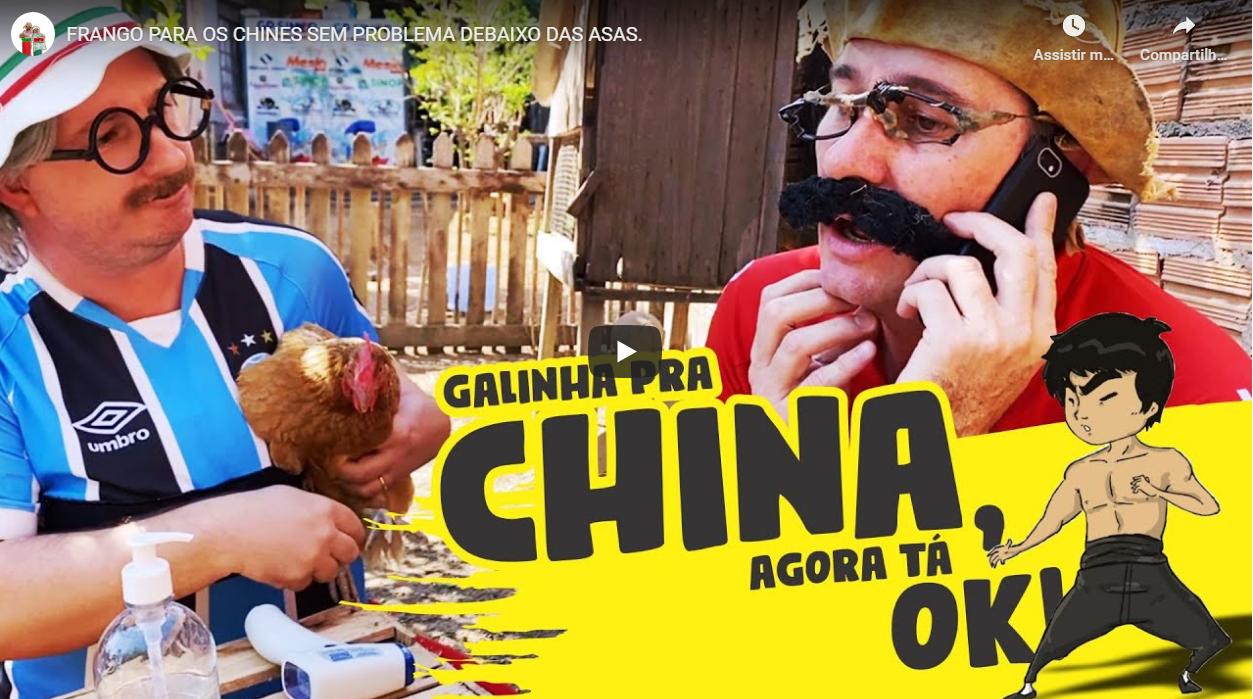FRANGO PARA OS CHINES SEM PROBLEMA DEBAIXO DAS ASAS