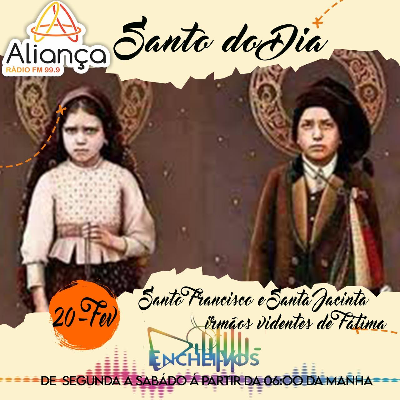 Santo do Dia de hoje (20): Santo Francisco e Santa Jacinta – irmãos videntes de Fátima