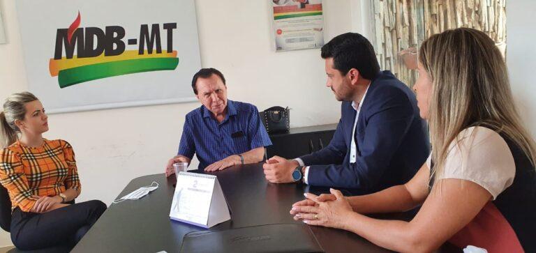 Com o deputado federal Carlos Bezerra, Prefeito Maninho garante mais investimentos em infraestrutura para Colíder (MT)