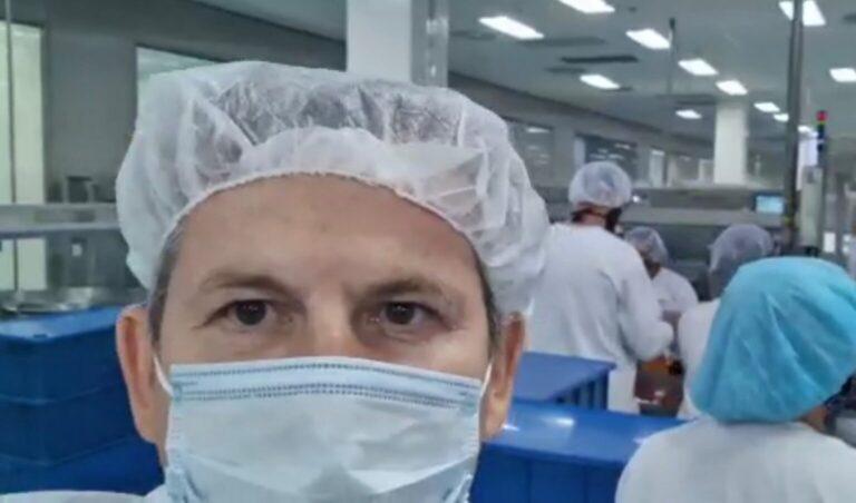Mauro Mendes visita fábrica da vacina Sputnik e busca compra direta de 4 milhões de doses para MT