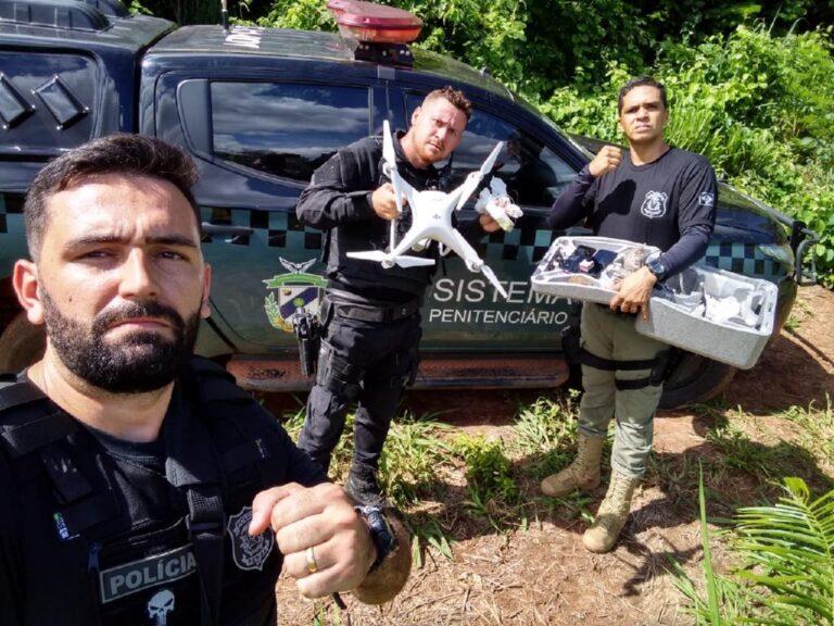 Policiais penais de MT evitam entrada de celulares e drogas por meio de drones