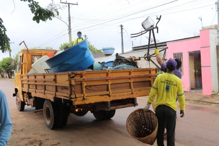 Colíder (MT) inicia mutirão de limpeza contra a dengue