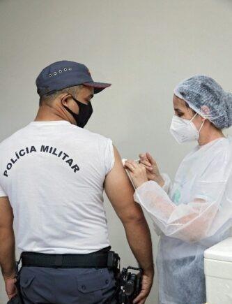 Força de segurança pública de Colíder (MT) são vacinados contra a covid-19