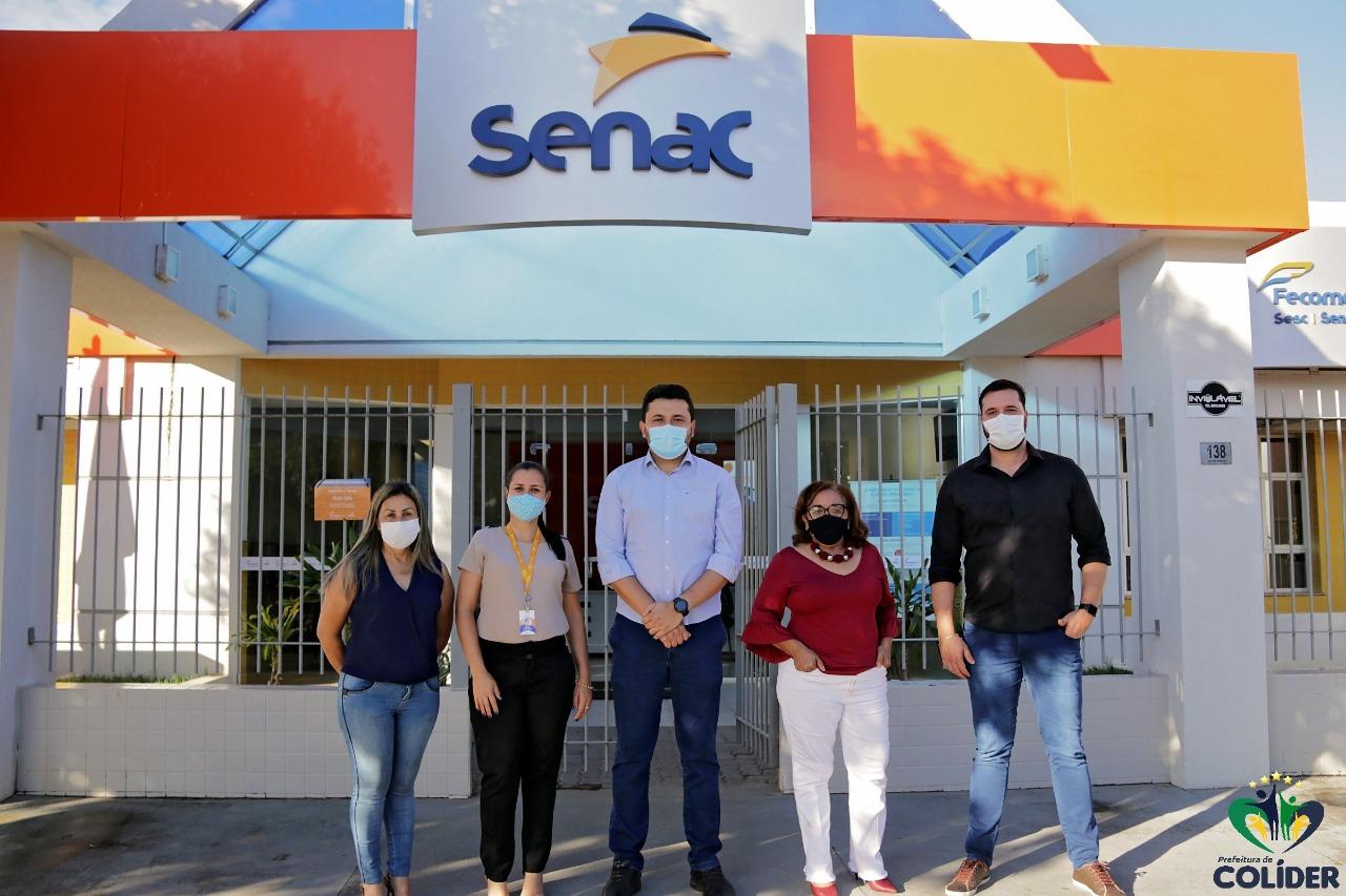 Prefeito Hemerson Máximo visitou a unidade do Senac e reforçou a parceria do município de Colíder (MT)