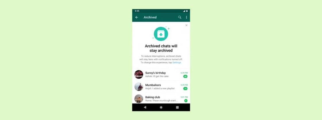 WhatsApp libera novo recurso de arquivar conversas