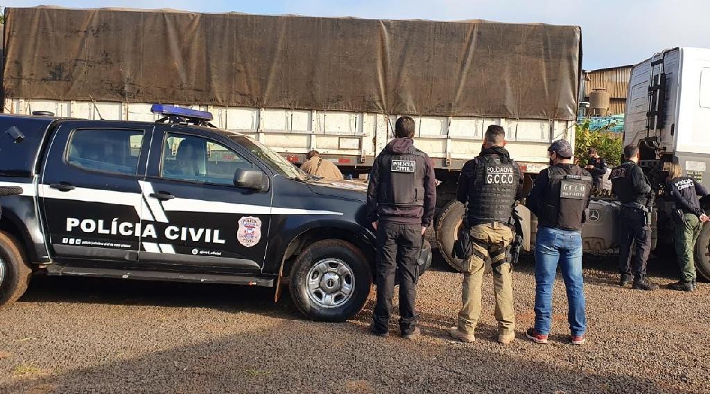 Organização criminosa desmantelada pela Polícia Civil movimentou R$ 6 milhões com furtos e roubos de cargas