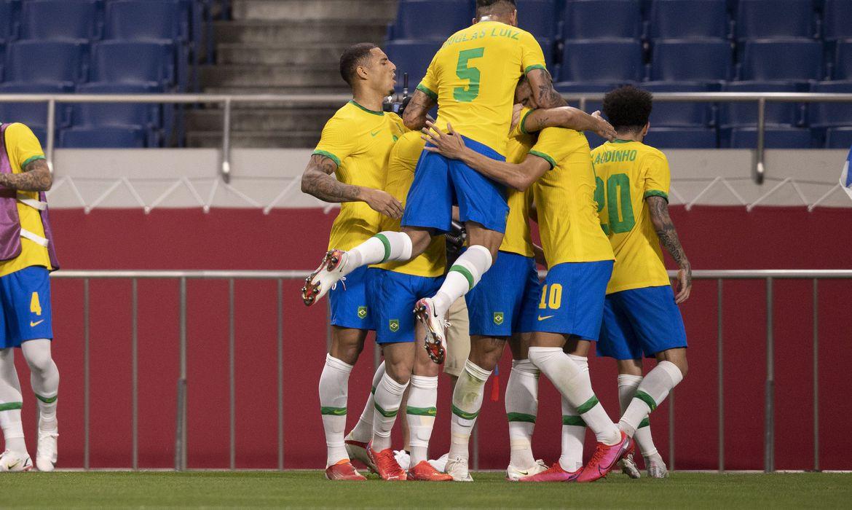 Brasil vence Egito e vai à semifinal do futebol masculino olímpico