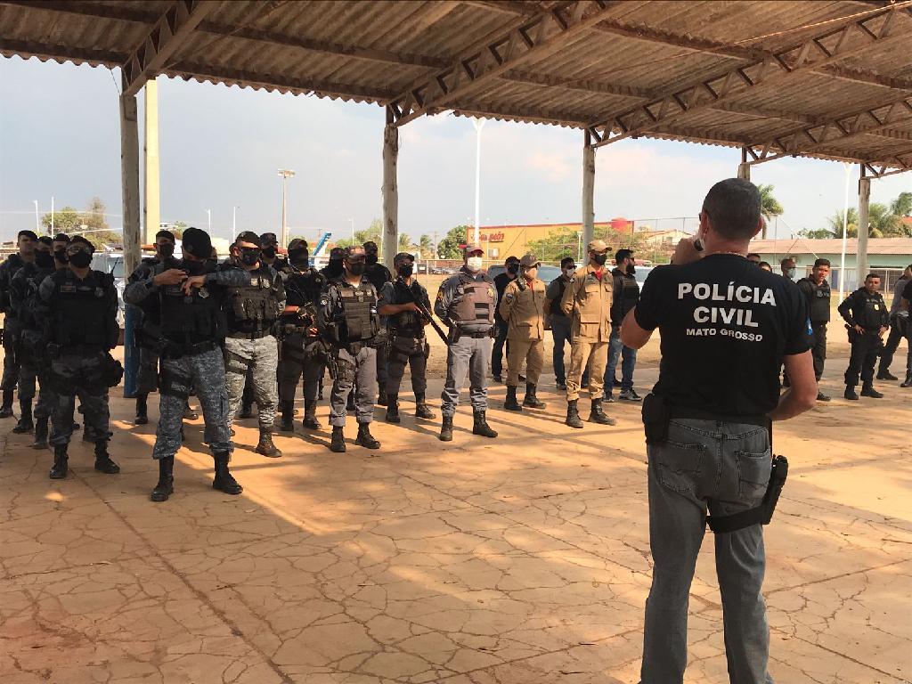 Operação Integrada Ordem Pública cumpre 14 mandados de prisão e 17 de busca e apreensão em MT
