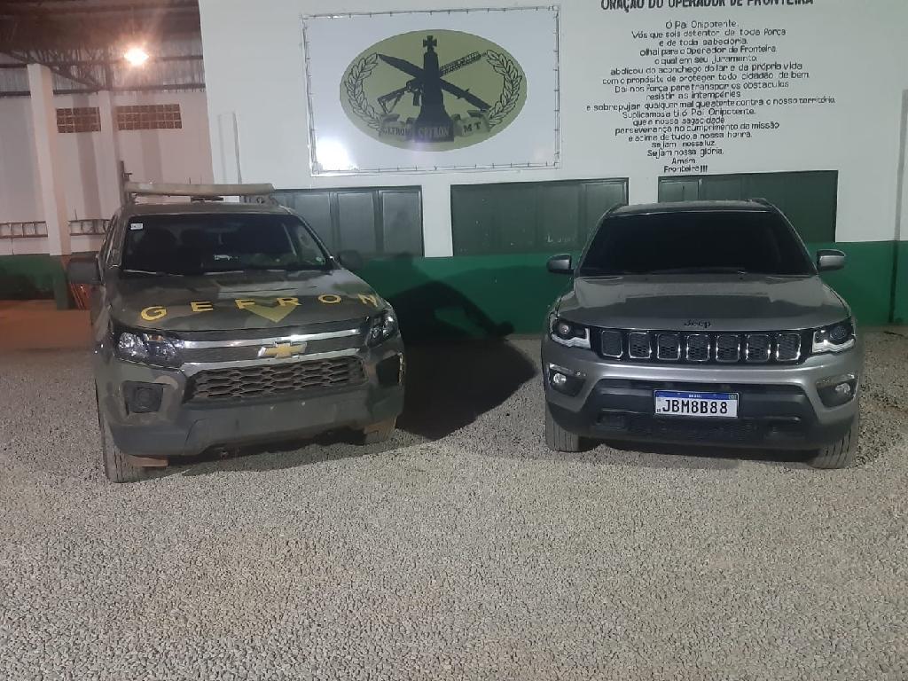 Policiais do Gefron apreendem veículo roubado no RJ em poder de dois policiais de MT