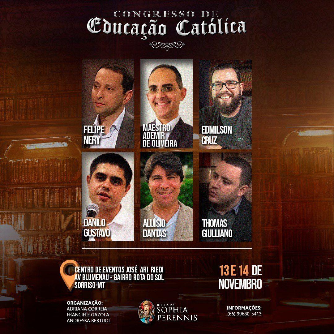 O Congresso de Educação Católica será nos dias 13 e 14 de novembro em Sorriso (MT); veja como fazer a inscrição
