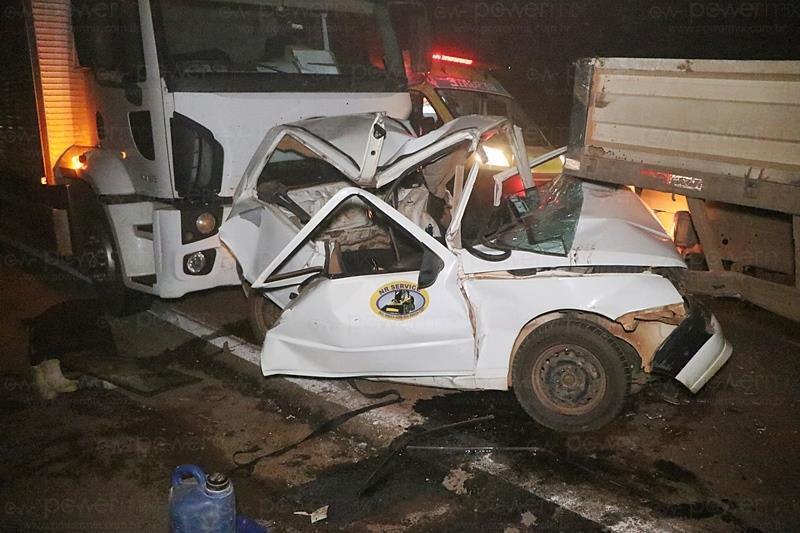Engavetamento envolvendo quatro veículos deixa 5 pessoas feridas na BR-163 em Nova Mutum (MT)