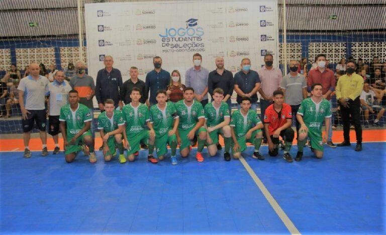 Secel e prefeitura de Sorriso (MT) abrem oficialmente as disputas de futsal dos Jogos Estudantis Mato-grossenses